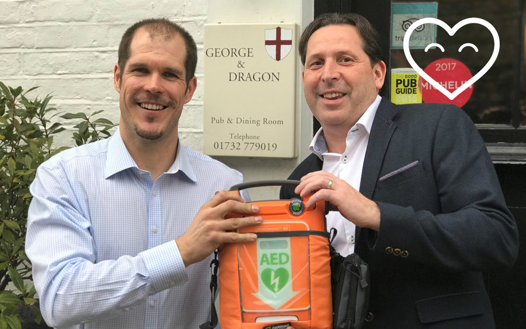 The lovely George & Dragon Pub to receive defibrillator!