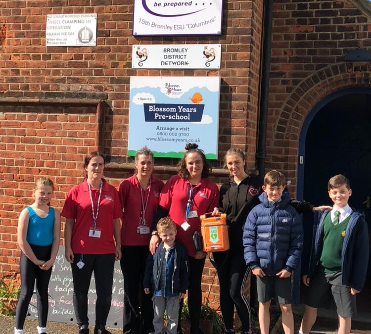 Blossom Years Nursery receive defibrillator thanks to your support!