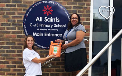 CHT Donate Defibrillator To All Saints C of E Primary School!