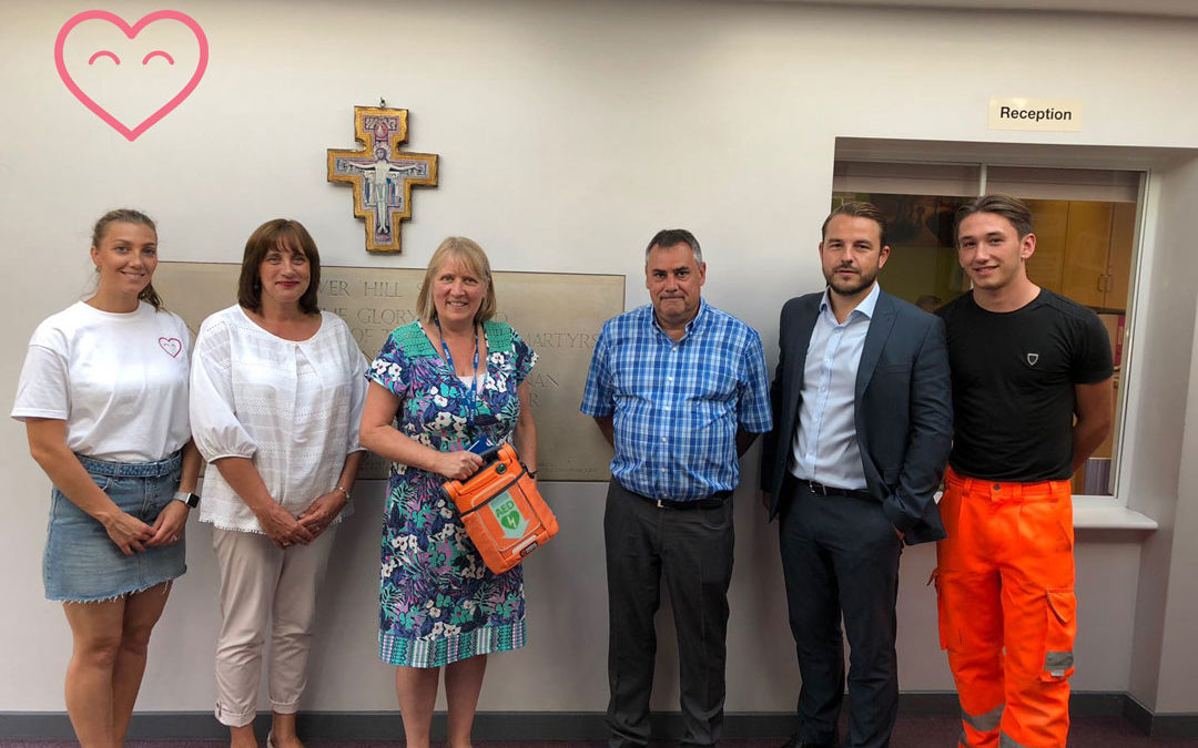 Midgard Ltd donate a defibrillator to The English Martyrs Primary School!