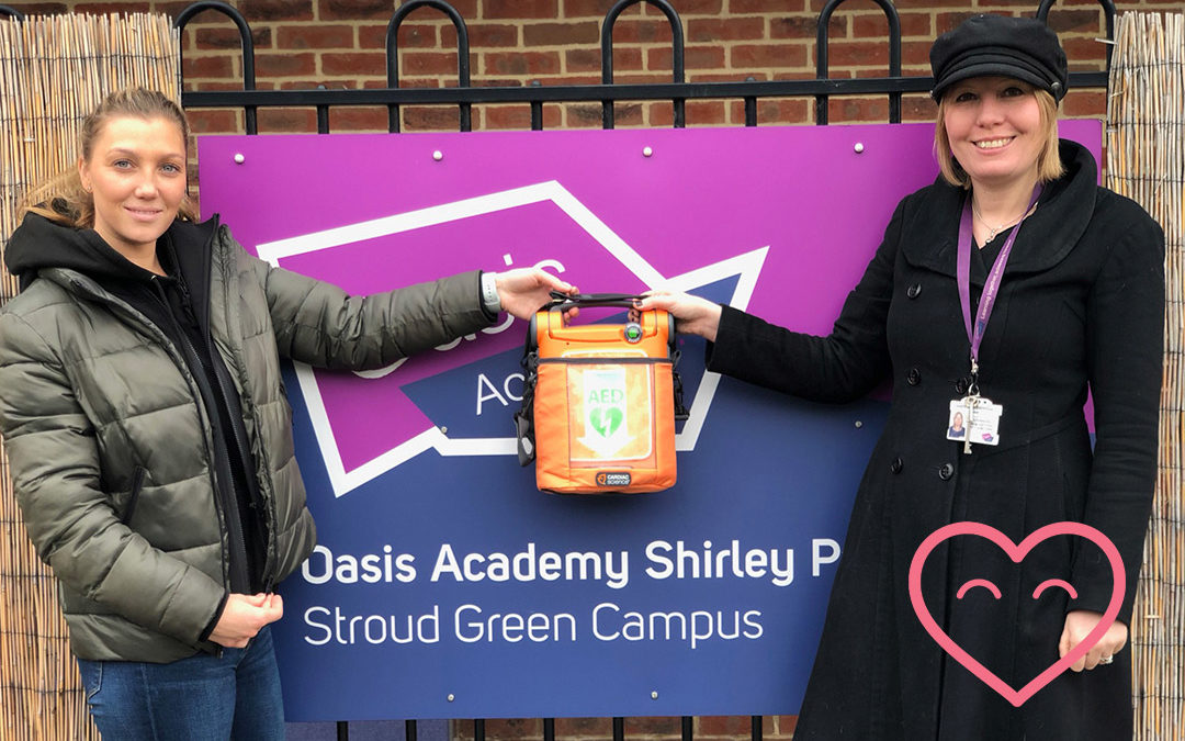 Oasis Academy – Stroud Green receive Defibrillator from CHT