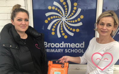 A Defibrillator goes to Broadmead Primary School!