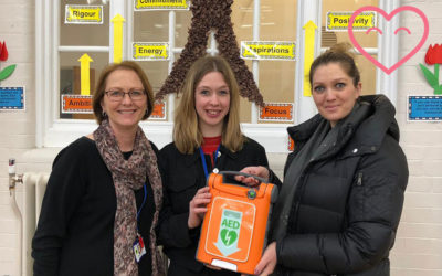 Burnt Oak Junior School have a defibrillator!
