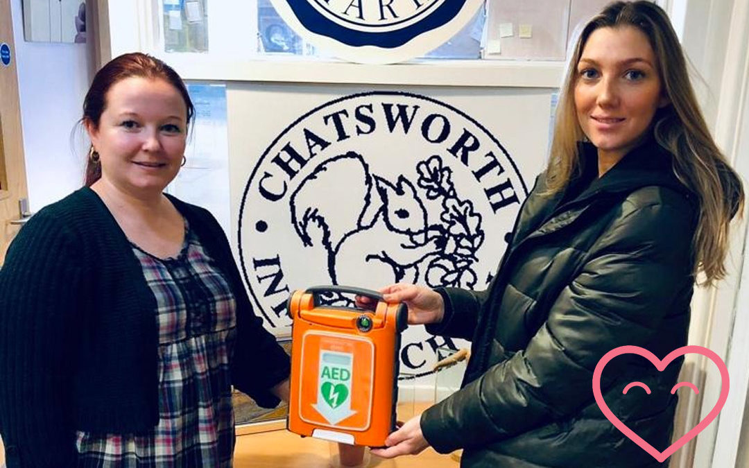 We help Chatsworth raise enough for a Defibrillator!