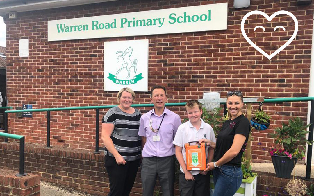 Back to donating! Warren Road School receive a Defibrillator! :)