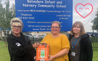 Belvedere Infant School receive a defibrillator from us!