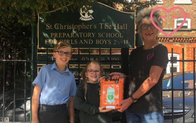 St Christophers receive a defibrillator from us!