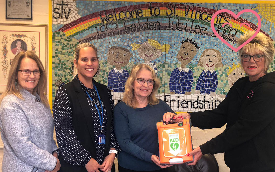 St Vincents Catholic Primary School receive a defibrillator!