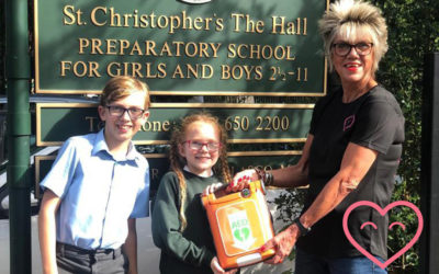 St Christophers The Hall get a new defibrillator!