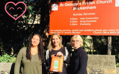 St George's Church in Beckenham get a new Defibrillator!!!