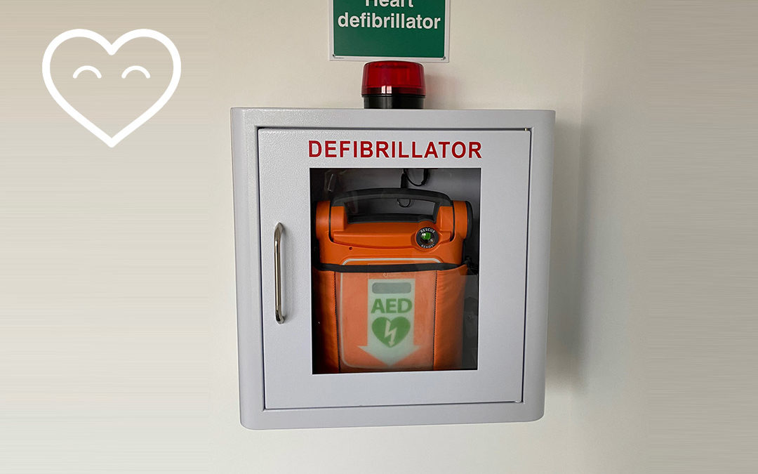 CHT fit a defibrillator in Matilda House, Bromley